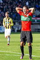 NIJMEGEN - NEC - Vitesse , Voetbal , Eredivisie , Seizoen 2016/2017 , Stadion de Goffert , 23-10-2016 , NEC Nijmegen speler Julian von Haacke baalt van gemiste kans