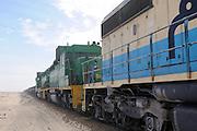 Iron ore train, the longest and heaviest train in the wolrd, Nouadhibou, Western Africa, Mauretania, Africa