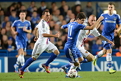 LONDON, ENGLAND - September 18: Chelsea's Oscar  during the UEFA Champions League Group E match between Chelsea from England and Basel from Switzerland played at Stamford Bridge, on September 18, 2013 in London, England. (Photo by Mitchell Gunn/ESPA)