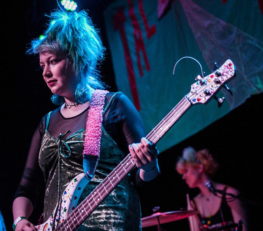Bree McKenna of Tacocat performing at the Constellation Room in Santa Ana, CA, April 19, 2017