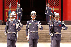 Changing of the Guard at Martyrs Shrine in Taipei Taiwan