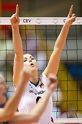01.10.2011, Hala Pionir, Belgrad, SRB, Europameisterschaft Volleyball Frauen, Halbfinale, Deutschland (GER) vs. Italien (ITA), im Bild Corina Ssuschke-Voigt (#9 GER / Sopot POL) // during the 2011 CEV European Championship, Quarterfinal at Hala Pionir, Belgrade, SRB, Germany vs Italy, 2011-10-01. EXPA Pictures © 2011, PhotoCredit: EXPA/ nph/  Kurth       ****** out of GER / CRO  / BEL ******