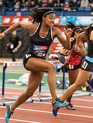 New Balance High School National Indoor Track & Field Championships: girl's 60 hurdles final, Anna Cockrell, NC
