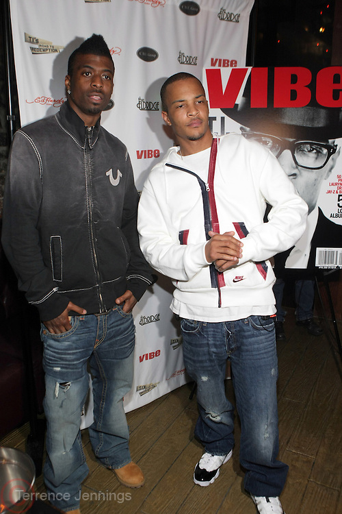 l to r: Young LA and T.I. at The Vibe Magazine private reception in honor of Grammy Award winning Superstar artist and actor, T.I held at The Eldrige on February 9, 2009 in New York City