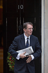 © licensed to London News Pictures. London, UK 21/01/14.  Daily Telegraph editor Tony Gallagher is leaving Telegraph Media Group (TMG). Gallagher has been editor of the newspaper since 2009. FILE PICTURE DATED 04/12/2012. Tony Gallagher, the editor of The Telegraph leaving Downing Street as most editors of the national daily newspapers meeting the Prime Minister David Cameron to discuss ideas for a new system of press regulation. Photo credit: Tolga Akmen/LNP