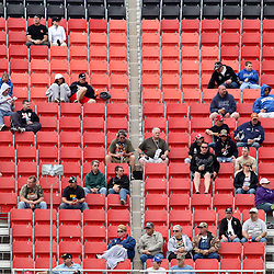 April 15, 2011; Talladega, AL, USA; NASCAR Sprint Cup Series fans watch from the stands during practice for the Aarons 499 at Talladega Superspeedway.   Mandatory Credit: Derick E. Hingle