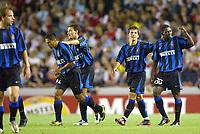 Fotball<br /> UEFA Champions League 2003/2004<br /> Arsenal v Inter<br /> 17.09.2003<br /> NORWAY ONLY<br /> Foto: Digitalsport<br /> <br /> FOOTBALL - CHAMPIONS LEAGUE 2003/04 - 1ST ROUND - GROUP B - 030917 - ARSENAL FC v FC INTERNAZIONALE - INTER JOY - PHOTO LAURENT BAHEUX