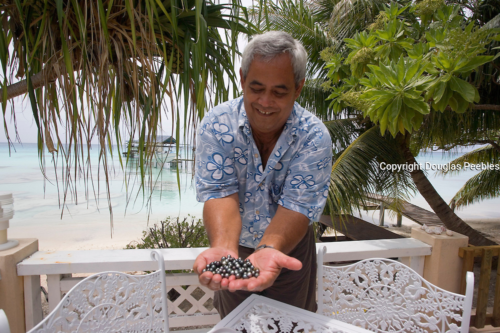 Black pearls, Fakarava, Tuamotu Islands, French Polynesia, (Editorial use only)<br />
