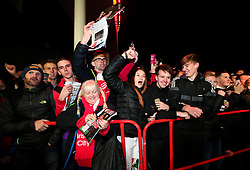 Bristol City fans wait for the Manchester United team to arrive at Ashton Gate for the Carabao Cup Quarter Final tie - Mandatory by-line: Robbie Stephenson/JMP - 20/12/2017 - FOOTBALL - Ashton Gate Stadium - Bristol, England - Bristol City v Manchester United - Carabao Cup Quarter Final