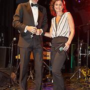 NLD/Amsterdam/20151119 - Esquire Best Geklede man 2015, Arno Kantelberg en Fockeline Ouwerkerk