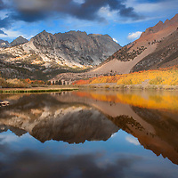Autumn reflection in North Lake, near Bishop, California.