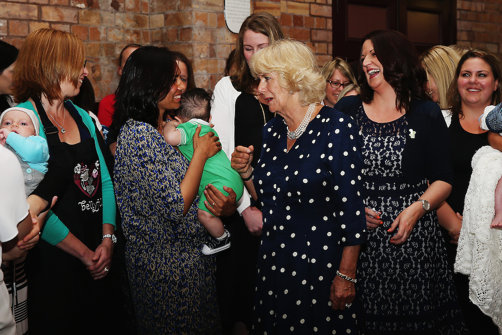 Camilla, Duchess of Cornwall meets mothers from the Bellyful charity, Auckland, New Zealand, New Zealand, Sunday, November 08, 2015. Credit:SNPA / Hannah Peters,  **POOL**