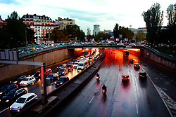 Paris rush-hour traffic.