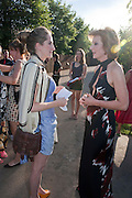 VIOLET NAYLOR-LEYLAND; JULIA PEYTON-JONES, The Summer Party. Serpentine Gallery. 8 July 2010. -DO NOT ARCHIVE-© Copyright Photograph by Dafydd Jones. 248 Clapham Rd. London SW9 0PZ. Tel 0207 820 0771. www.dafjones.com.