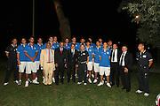 Roma, Casa del Jazz,30-08-2007<br /> Prodi e Veltroni con la Nazionale Itlaiana maschile di basket. <br /> Foto:Ciamillo-Castoria
