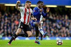 Harlee Dean of Brentford tackles Michy Batshuayi of Chelsea - Mandatory by-line: Jason Brown/JMP - 28/01/2017 - FOOTBALL - Stamford Bridge - London, England - Chelsea v Brentford - Emirates FA Cup fourth round