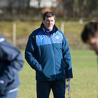 St Johnstone Training…22.02.16<br />Manager Tommy Wright pictured in training this morning ahead of tomorrow night's re-arranged game against Partick Thistle<br />Picture by Graeme Hart.<br />Copyright Perthshire Picture Agency<br />Tel: 01738 623350  Mobile: 07990 594431