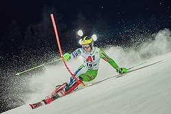 "29.01.2019, Planai, Schladming, AUT, FIS Weltcup Ski Alpin, Slalom, Herren, 1. Lauf, im Bild Stefan Hadalin (SLO) // Stefan Hadalin of Slovenia in action during his 1st run of men's Slalom ""the Nightrace"" of FIS ski alpine world cup at the Planai in Schladming, Austria on 2019/01/29. EXPA Pictures © 2019, PhotoCredit: EXPA/ Dominik Angerer"