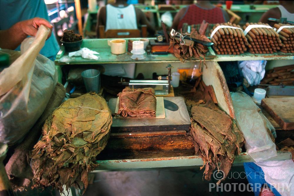 HAVANA, CUBA - AUGUST 24, 2001 - The tools of a cigar roller. (PHOTO © JOCK FISTICK)