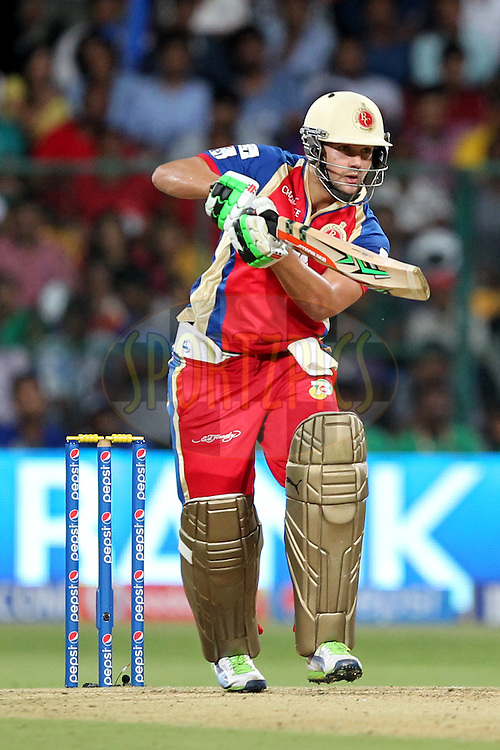 Rilee Rossouw of the Royal Challengers Bangalore during match 24 of the Pepsi Indian Premier League Season 2014 between the Royal Challengers Bangalore and the Sunrisers Hyderabad held at the M. Chinnaswamy Stadium, Bangalore, India on the 4th May  2014Photo by Prashant Bhoot / IPL / SPORTZPICSImage use subject to terms and conditions which can be found here:  http://sportzpics.photoshelter.com/gallery/Pepsi-IPL-Image-terms-and-conditions/G00004VW1IVJ.gB0/C0000TScjhBM6ikg