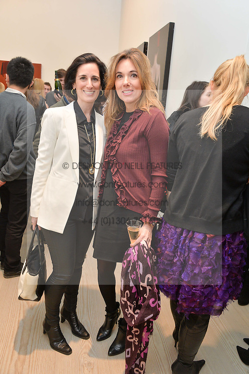 Left to right, PRINCESS DEMETRA VON AUERSPERG-BREUNNER and SILVIA BRUTTINI at the launch of a new exhibition 'Le Tarbouche' by French-Lebanese artist Mouna Rebeiz held at The Saatchi Gallery, Duke of York's HQ, King's Road, London on 26th February 2015.