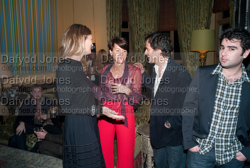 MARTINE D'ANGLGAN-CHATILLON; DAVID HEYMAN, - Dinner at hosted by Ivor Braka at his home in Chelsea after the opening of Kelley Walker at the Thomas Dane Gallery. London. 13 October 2010. -DO NOT ARCHIVE-© Copyright Photograph by Dafydd Jones. 248 Clapham Rd. London SW9 0PZ. Tel 0207 820 0771. www.dafjones.com.