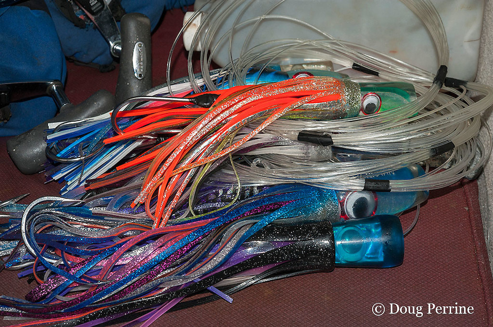 fishing lures aboard Reel Addiction, Vava'u, Kingdom of Tonga, South Pacific