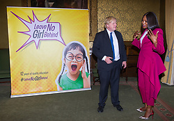 June 14, 2018 - London, London, United Kingdom - Foreign Office. .Supermodel Naomi Campbell and Boris Johnson MP, Secretary of State for Foreign and Commonwealth Affairs, launching the project Leave No Girl Behind at the Foreign Office after have a meeting...The Foreign Secretary and the supermodel discussed the #LeaveNoGirlBehind campaign, which aims to promote the opportunity for all girls to receive 12 years of quality education by 2030. (Credit Image: © Gustavo Valiente/i-Images via ZUMA Press)