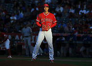 June 6, 2018 - Anaheim, CA, U.S. - ANAHEIM, CA - JUNE 06: Los Angeles Angels of Anaheim pitcher Shohei Ohtani (17) in action during the first inning of a game against the Kansas City Royals played on June 6, 2018 at Angel Stadium of Anaheim in Anaheim, CA. (Photo by John Cordes/Icon Sportswire) (Credit Image: © John Cordes/Icon SMI via ZUMA Press)