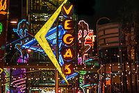 Vegas Neon Sign, Downtown Las Vegas, Nevada USA.