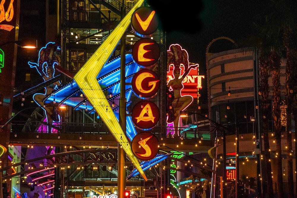 Vegas Neon Sign, Downtown Las Vegas, Nevada USA.