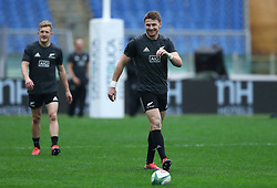 November 23, 2018 - Rome, Italy - Rugby All Blacks captains run - Cattolica Test Match.Beauden Barrett at Olimpico Stadium in Rome, Italy on November 23, 2018. (Credit Image: © Matteo Ciambelli/NurPhoto via ZUMA Press)