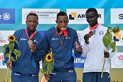 06/08/2017; Podium at 2017 World Para Athletics Junior Championships, Nottwil, Switzerland