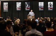 January 24, 2014: The Oklahoma Christian University Eagles host the athletic Hall of Fame induction banquet.