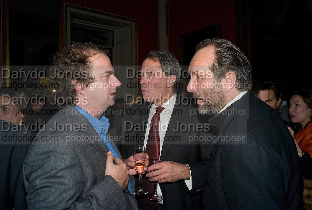 ALEXANDER WAUGH; CHARLES GLASS; DAVID MACMILLAN, The Literary Review Bad sex in Fiction award 2008. The In and Out Club. 4 St. James Square. London SW1. 25 November 2008. *** Local Caption *** -DO NOT ARCHIVE -Copyright Photograph by Dafydd Jones. 248 Clapham Rd. London SW9 0PZ. Tel 0207 820 0771. www.dafjones.com