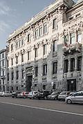 Milano, Lombardia, Italia. Stile liberty. Liberty style. Palazzo palace Castiglioni, corso Venezia. Arch. Sommaruga.