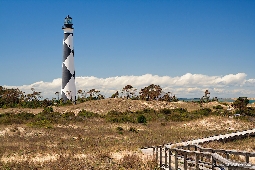 Core Banks Lighthouse at Cape Lookout.