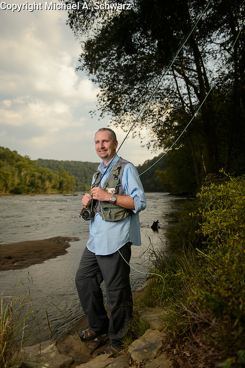 September 12, 2013.Ted Smith, Atlanta office, at the Chattahoochee River in Atlanta. Photograph by Michael A. Schwarz.