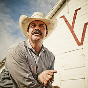 &ldquo;The Legend&rdquo; <br /> Thomas Saunders <br /> Saunders Twin V Ranch, Weatherford, Texas, 2012                                                                            Photographing the West, book                            20 x 30