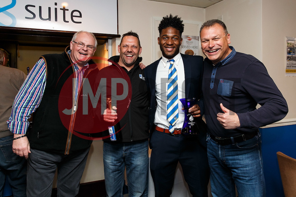 Man of the Match presentations to Ellis Harrison of Bristol Rovers in the dribuild suite - Photo mandatory by-line: Rogan Thomson/JMP - 07966 386802 - 11/04/2015 - SPORT - FOOTBALL - Bristol, England - Memorial Stadium - Bristol Rovers v Southport - Vanarama Conference Premier.