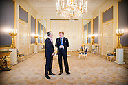 King Willem-Alexander receives Secretary General of NATO Jens Stoltenberg. The World Forum is a meet