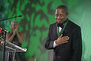 Ohio University President, Roderick McDavis, receives the Alumnus of the Year Award during the 2016 Alumni Awards Gala at Ohio University's Baker Center Ballroom on Friday, October 07, 2016.