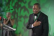 Ohio University President, Roderick McDavis, receives the Alumnus of the Year Award during the 2016 Alumni Awards Gala at Ohio University's Baker Center Ballroom on Friday, October 07, 2016.