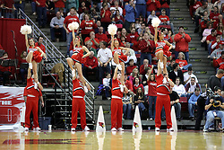 05 January 2008: ISU Redbird Cheerleaders get the crowd up. The Redbirds of Illinois State took the bite out of the Salukis of Southern Illinois winning the Conference home opener for the 'birds on Doug Collins Court in Redbird Arena in Normal Illinois by a score of 56-47.