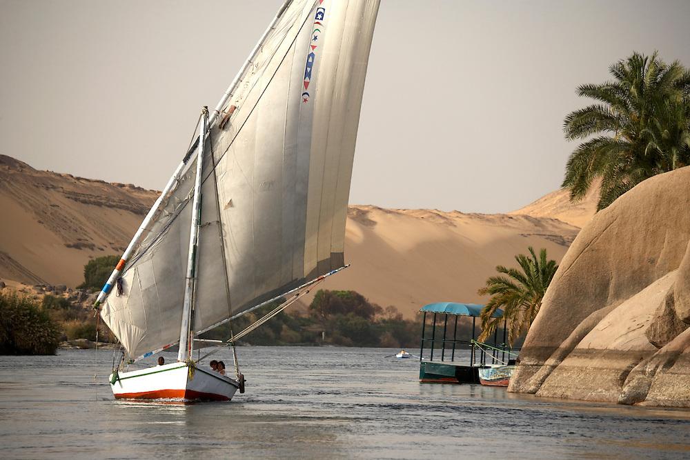 Felucca on Nile, Aswan, Egypt