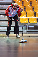 Graz, Austria - 2017 March 18: Heinz Fessler Manfred from Austria warms up during training session of Stick Shooting while Special Olympics World Winter Games Austria 2017 at Convention Centre Messe Graz on March 18, 2017 in Graz, Austria.<br /> <br /> Mandatory credit:<br /> Photo by © Adam Nurkiewicz / Mediasport<br /> <br /> Adam Nurkiewicz declares that he has no rights to the image of people at the photographs of his authorship.<br /> <br /> Picture also available in RAW (NEF) or TIFF format on special request.<br /> <br /> Any editorial, commercial or promotional use requires written permission from the author of image.<br /> <br /> Image can be used in the press when the method of use and the signature does not hurt people on the picture.