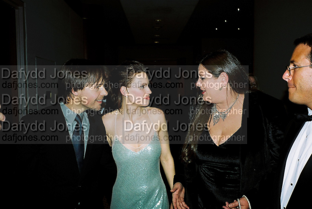 Hilary Swank. Post Golden Globes party. Beverley Hilton. 21 January 2001. © Copyright Photograph by Dafydd Jones 66 Stockwell Park Rd. London SW9 0DA Tel 020 7733 0108 www.dafjones.com