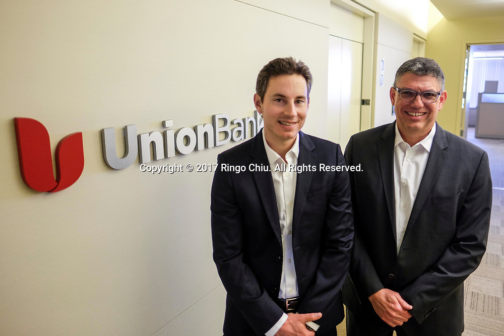 Adam Feit, left, and Matthew Delaney of Union Bank. (Photo by Ringo Chiu)<br /> <br /> Usage Notes: This content is intended for editorial use only. For other uses, additional clearances may be required.