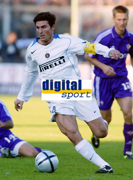 Firenze 07-11-2004<br /> Campionato  Serie A Tim 2004-2005<br /> Fiorentina Inter<br /> nella  foto Javier Zanetti<br /> Foto Snapshot / Graffiti
