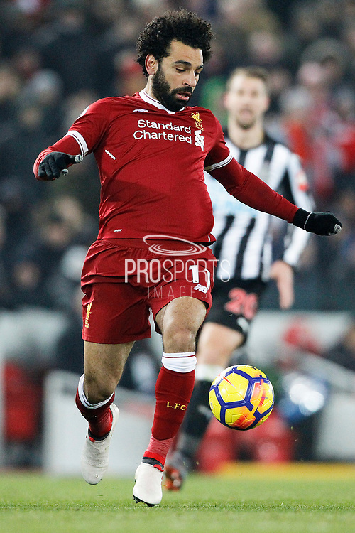Liverpool midfielder Mohamed Salah (11) during the Premier League match between Liverpool and Newcastle United at Anfield, Liverpool, England on 3 March 2018. Picture by Craig Galloway.